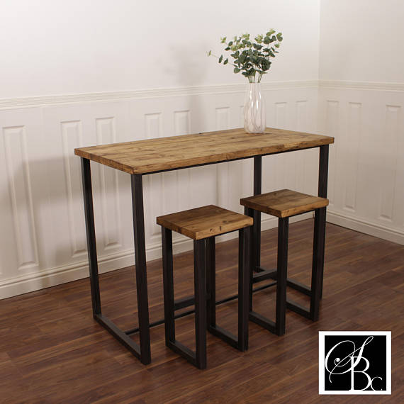 Industrial Breakfast Bar U0026 Stools