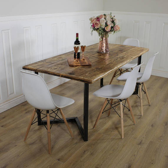 industrial kitchen table furniture. You\u0027re Viewing: Lewis Industrial Dining Table £450.00 \u2013 £630.00 Kitchen Furniture